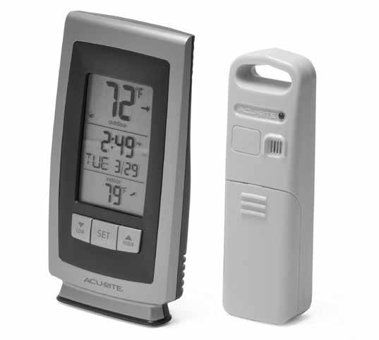 Instruction Manual Weather Thermometer models 00754/00771W/0077W/00773W/00774W CONTENTS Unpacking Instructions... Package Contents... Product Registration... Features & Benefits: Sensor.
