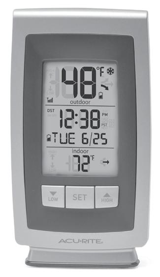 Features & Benefits 1 3 4 5 6 7 14 13 1 11 10 9 8 15 16 17 18 DISPLAY UNIT 1. Current Outdoor Temperature Arrow icon indicates the direction the temperature is trending.