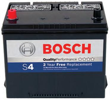 Passenger car batteries from Bosch: Top performance right from the start Bosch battery Premium performance battery ff 100% maintenance free* ff Focus on premium car segments and cars with a high