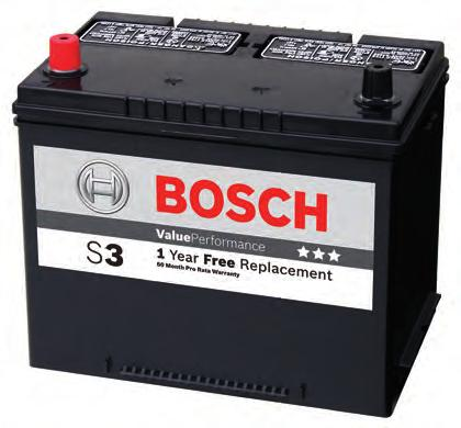 warranty ff Free road side assistance Bosch battery Quality performance battery ff 100 % maintenance free* ff Allround battery focused on mid-size car segment with average number of electrical