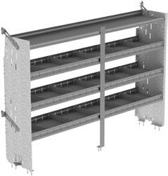 Deep Square Back Shelving Unit with Dividers SHELVING Deep Square Back Shelving Unit with Dividers F38-T 17.