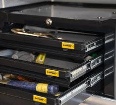 54 Ranger Design manufactures a variety of tough, quiet drawer systems and storage