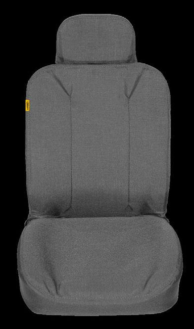 guaranteed to stay in place Puncture resistant to prevent seat damage Durable Cordura fabric with a 1 year warranty 6254 SPECIFICATIONS for 1 set of bucket seat covers 4 lbs 0.