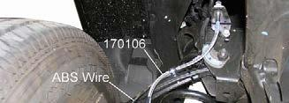 NOTE: For vehicles with Electronic Suspension Control, attach brake hose 170106 to top of sensor link bracket. See illustration 15. Illus.
