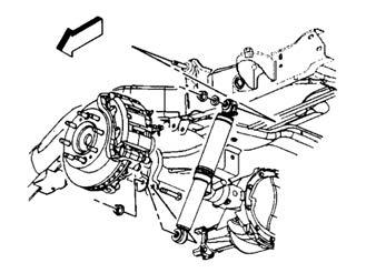 4) Remove the end link. 5) Repeat steps 3 and 4 for the other side. Illus. 18 9) Remove the nut and bolt holding the track bar to the rear axle.