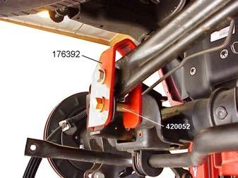 26 2) Attach track bar bracket 176392 to the track bar with the original hardware.