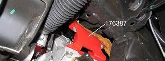 5 2) Attach left drop bracket 176387 to the driver side differential frame mount with the original hardware. See illustration 6. Tighten bolts to 65 ft. lbs Illus.
