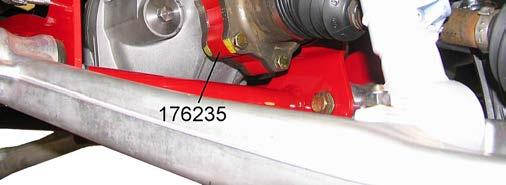 Apply thread lock to bolts and attach the half shaft to the differential with the hardware from kit 860176. See illustration 10. Tighten the flange bolts to 58 ft.