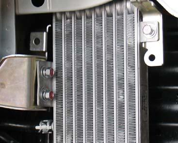 Oil cooler that will be relocated in order to make room for