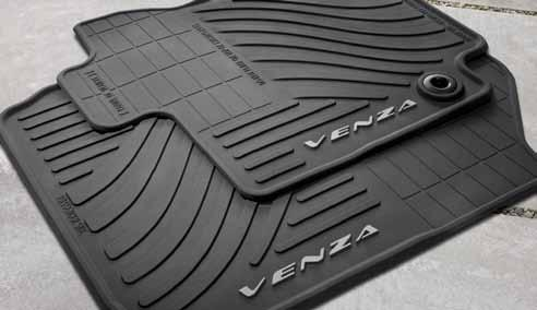 Made of durable, easy-to-clean material embossed with a Venza logo Skid-resistant surface helps secure items in place ll-weather Floor Mats () Count on