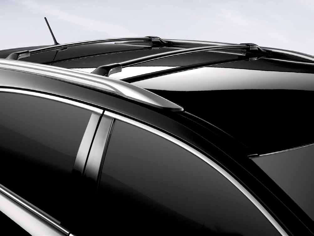Roof Rails with Cross ars dd even more utility to your Venza with the addition of roof rails with