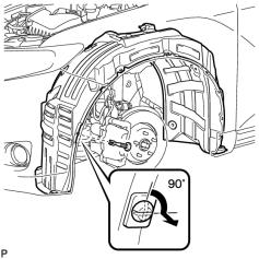 9. On the Driver s side it requires removal of front tire to access this area, make
