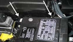 Fig. 23 9. Route the wiring along the battery over to the driver s side fender.