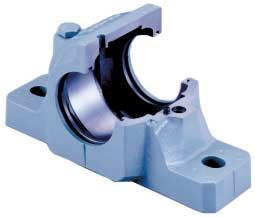 bearing Cap and base are serialized Dimples for four bolt mounting Square-shaped base Facilitates alignment High-precision bore Maximizes bearing performance Seal Groove for various types of seals
