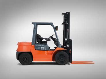 Engine-powered Forklift Trucks Specifications 7FG40 7FD45 Specifications Model 7FG35 7FG40 7FG45 7FGA50 7FD35 7FD40 7FD45 7FDA50 Engine model 1FZ-E 1FZ-E 1FZ-E 1FZ-E 15Z 15Z 15Z 15Z Load capacity