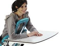 The table is contoured to provide comfortable support to forearms. Can be adjusted in height, depth and tilt.