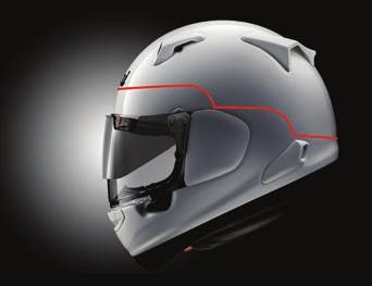 The role of a motorcycle helmet is to minimize and manage impacts to the brain. Laboratory impact test standards vary somewhat, but generally all define shock absorption levels.