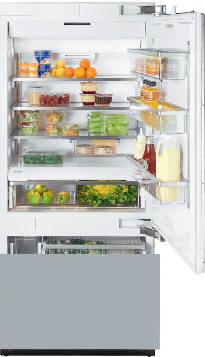 SPECIFICATIONS Features: MasterCool controls ClearView lighting system Drop and Lock Shelves SmartFresh storage drawers FullView storage drawers Ice maker RemoteVision capable Acoustic door and