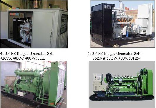 "Shengdong Biogas / Landfill Gas Fuelled Gensets Ranging from 50 kva to over 750 KVA The term ""biogas"" refers to gases created by the anaerobic fermentation of biological materials."