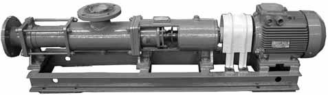 single-screw pumps of N1V type SINGLE-SCREW PUMPS OF N1V TYPE APPLICATION Single-screw pumps are intended for pumping of clean and contaminated liquids with the temperature up to 353K (8 о С),