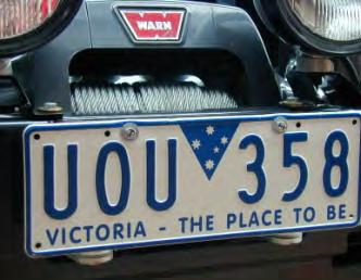 Bolt number plate to number plate