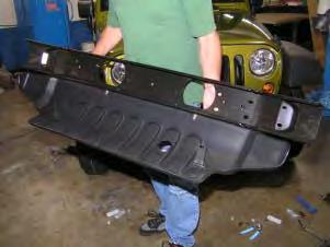 plastic bumper and all hardware
