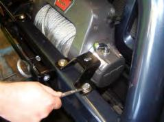 Winch has built in control box feature, therefore no control box bracket required.