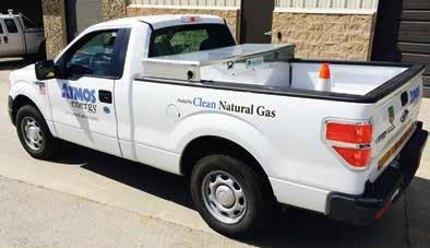Atmos Energy began transitioning part of their fleet this year with the purchase of 50 Ford F-150 s that were converted by Venchurs Vehicle Systems.