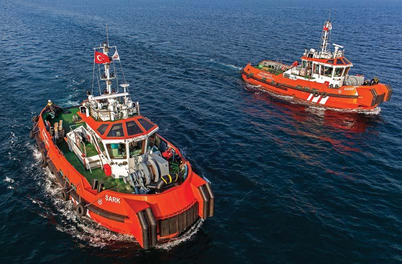 TUG & OSV DELIVERIES East meets West in Istanbul for coastal safety tugs Garp and Sark meaning west