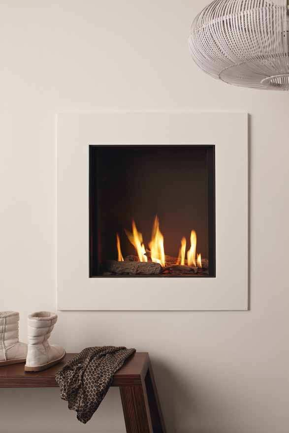 You can opt for a shallow model, or one with double burners that produces a denser flame and lets you adjust the heat. All of TULP s gas fires are available with either a steel or glass back panel.