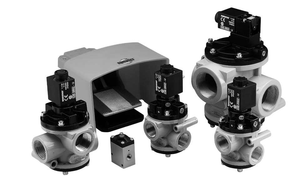 Poppet Valves N Series or ompressed ir and Vacuum The Numatics Poppet Valves are ideal for single acting cylinders, ir ellows and vacuum material handling.