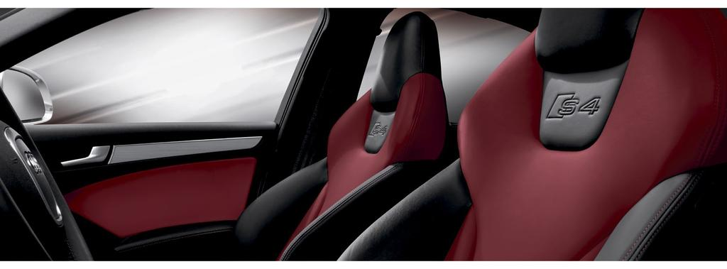 Enhancing the experience of performance. There is no mistaking the superior fit and finish of an Audi S4 interior.