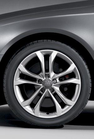 is standard on the S4. The wheels come equipped with summer performance tires, which help to improve handling and driving dynamics. [S4 only] 6.