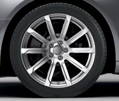 and striking in design. These wheels come equipped with 255/35 summer performance tires *. [A4 Prestige only] 7.