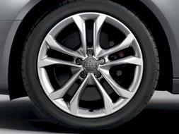The wheels come equipped with summer performance tires, which help with handling.