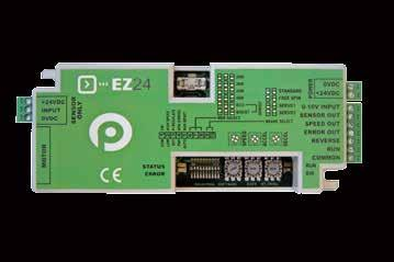 Controls Multi Drive Control Features Part number: EZ4, EZ4HTB, EZ4HTBS CE certified, RoHS compliant ETL / UL certified (Optional) different performance modes, ECO and BOOST LED Error Indicators 1