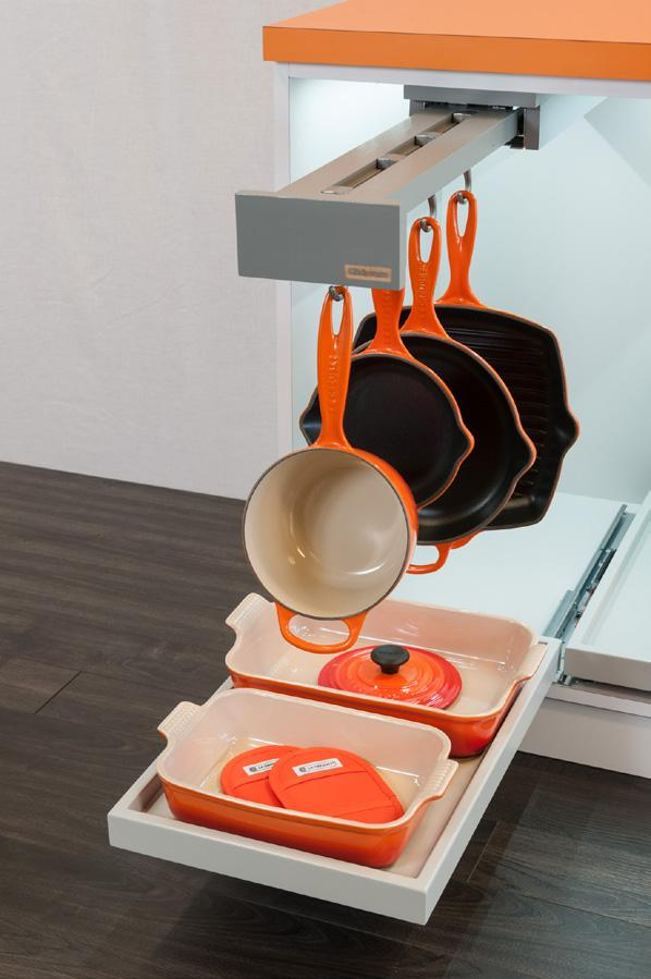 Glideware Home Storage Made Simple Synchronized Motion and weighted hooks keep