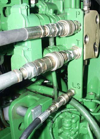 ICV s controlled implements or attachments connected to the hydraulic system of the tractor are provided with a Pressure-On- Demand (POD)-signal, pressured oil and a pressurefree return line.