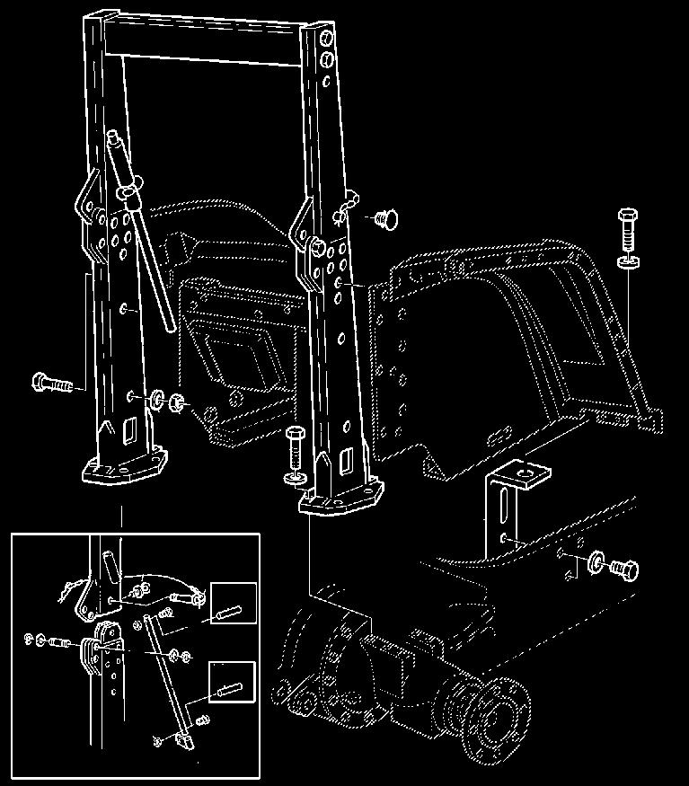Issue 02-2006 ( RI, RII) ATTACHMENTS - FACTORY AND FIELD INSTALLED 6020 Series Tractors-47 AL57528 Wiring harness 620-6620 without CommandArm; not for tractors with TLS-axle AL57527 Wiring harness
