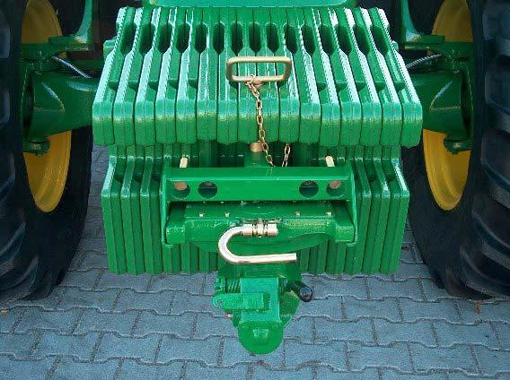 The wagon hitch can easily be affixed and is stored in a convenient height you can reach without stooping.