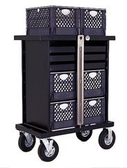 Equipment handling carts for the Film and Television industry 2015 Set Box Carts Ditty Cart Style No. SB-02 105 lbs. L28 1/2 x W23 x H43 Sale Price $ 850.