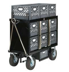 2-8 swivel with brakes Locking bar Optional Foam Filled Tires $ 140.00 4 Crate Horizontal Set Box Style No. SB-04H 200 lbs. L48 x W20 x H45 Sale Price $ 1,550.