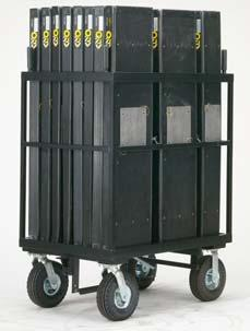 25 x H13 ) Jockey Box holds (2) Half Milk Crates End Pans (D13 x W18 ) Rear Storage (L55.