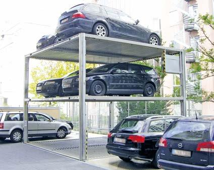 260 QUADRO N4904 The outdoor solution Parking on 4 levels S for 4 Cars D for 8 Cars system on 4 levels.