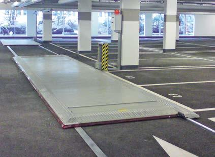 lanes Modular construction: depending on the conditions on site, it can be possible to add segments at will Traversable for high user comfort Width of space: 200 Length of space: 500 The parking