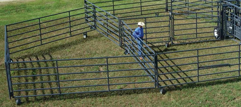 The First Hydraulic Corral and still Rawhide s super large corral has 150 pair