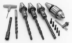 SGM/VGS Tooling & Accessories Kit Includes: Part No. Descriptions VGS-20956 Drill, Reamer and Spot Facer Kit VGS-140A Tapered Spindle Adapters (3) VGS-130A Drill Chuck with Adapter VGS-152A.