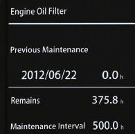 5HRWH RXQWHG YHUWLFDO RLO DQG IXHO OWHUV DUH VLSOH WR service, and extended engine and hydraulic oil-change intervals increase uptime.
