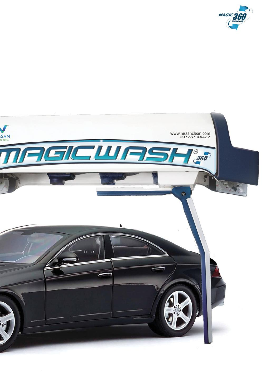 Magicwash 360 is an automatic computer operated machine, fully automated, without manual operation, automatic completion of the vehicle cleaning, waxing, polishing, water spray and air-dried to