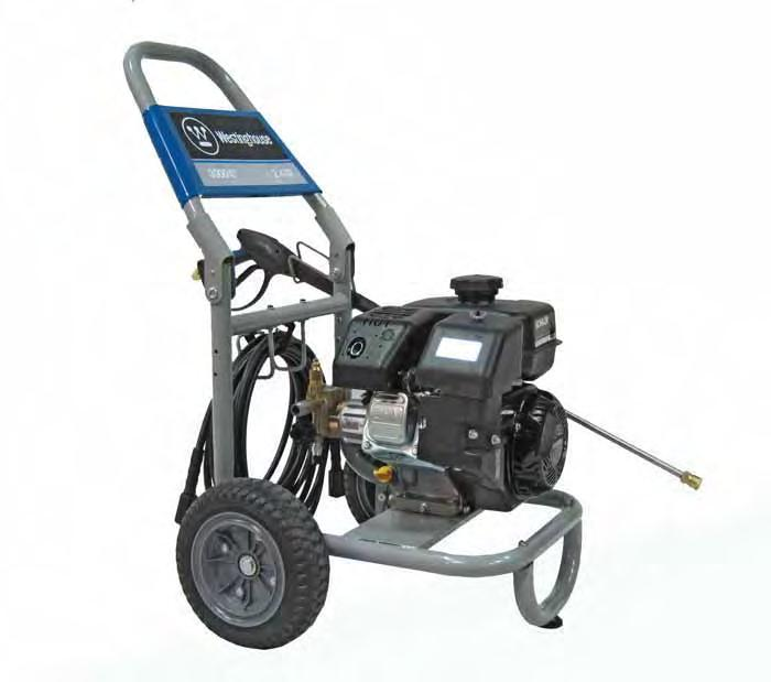 FEATURES WP3000 2 1 3 4 5 9 8 6 7 1 - Spark Plug 2 - Nozzle Storage 3 - Air Cleaner 4 - Throttle Lever 5 - Starter
